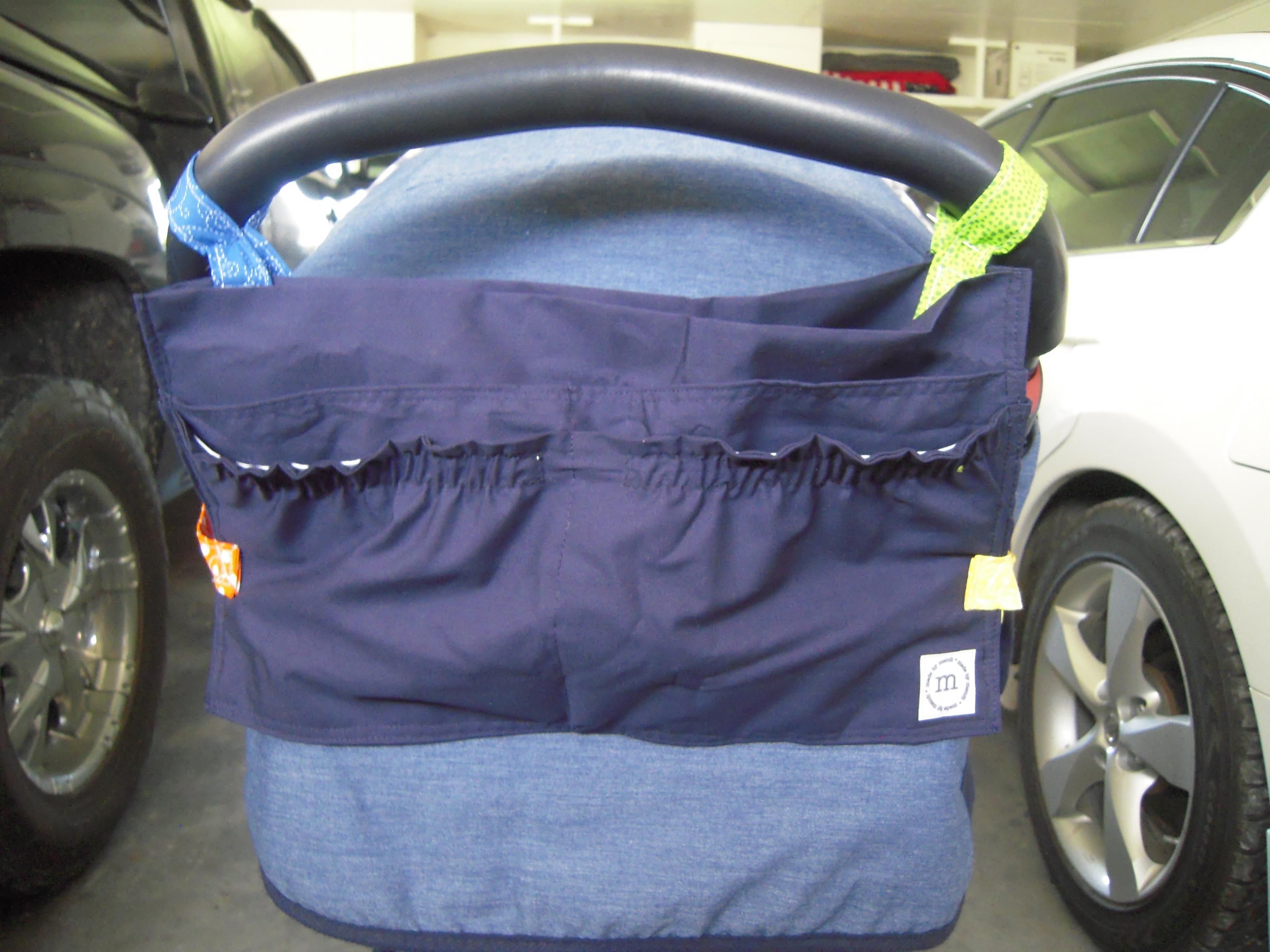 pillowcase stroller caddy tutorial | tolen family fun