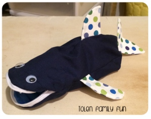 shark pencil pouch